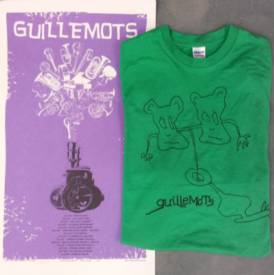 Guillemots Jacknife Screen Printed Tour Poster & Green Doodle T-Shirt Bundle