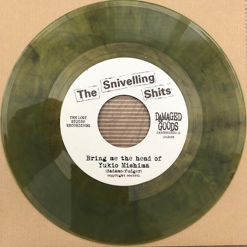 "The Snivelling Shits - Bring Me The Head Of Yukio Mishima - YELLOW SMOKE VINYL 7"""