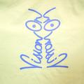 Vision On t-shirt in lemon and violet