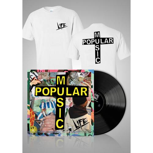 Popular Music Black LP + Logo T-shirt bundle