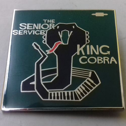 The Senior Service - The Senior Service - King Cobra ENAMEL BADGE (GREEN)