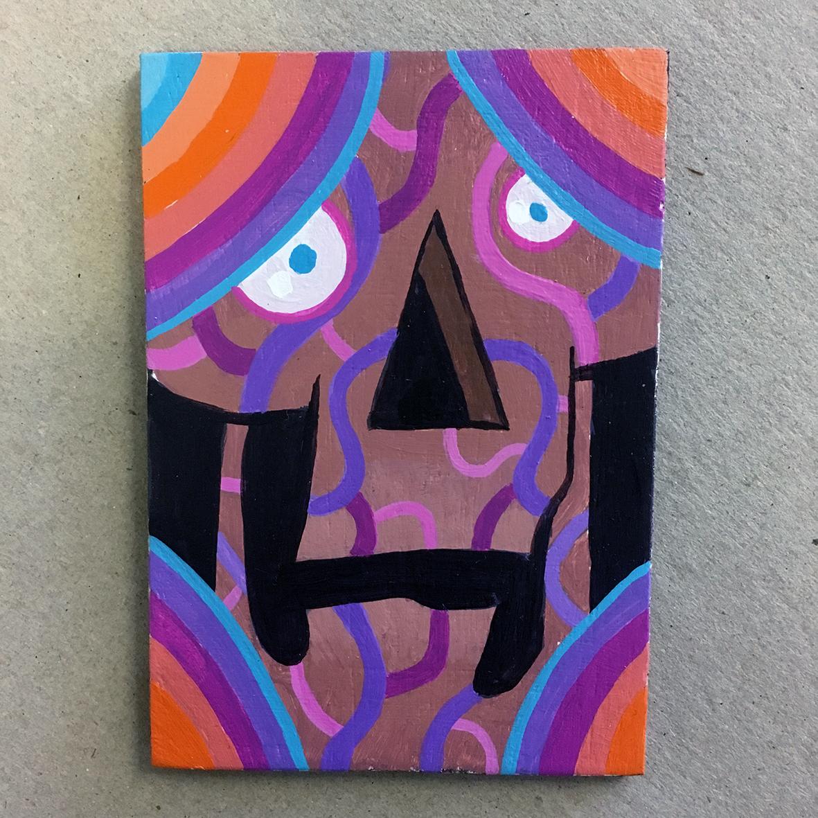 Sweet Skull 2 painting