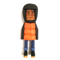 Jeff Puffa Carved wooden figure