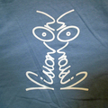 Vision On t-shirt duck egg and white