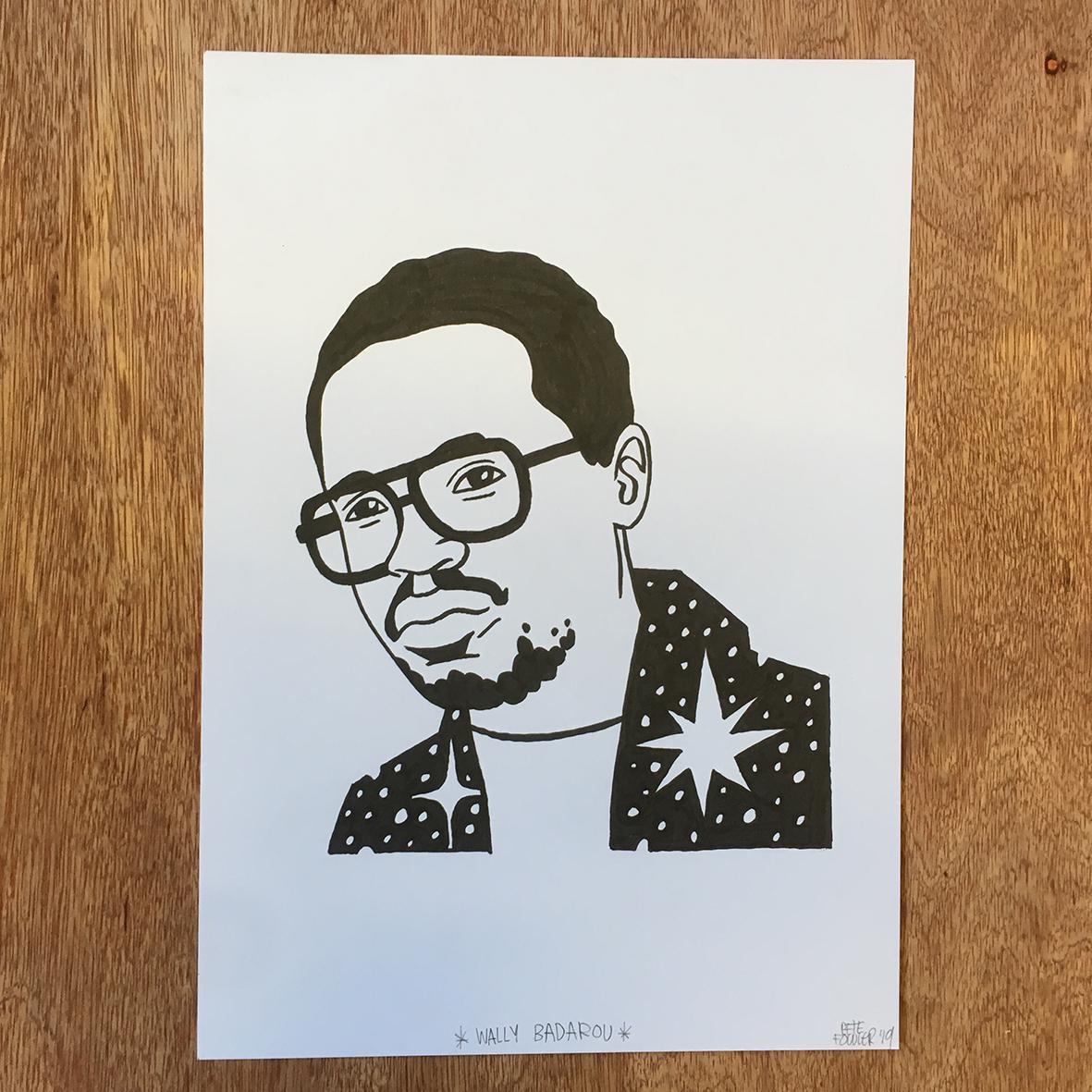 Wally Badarou drawing