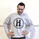 Classic Big H Sweatshirt in Grey