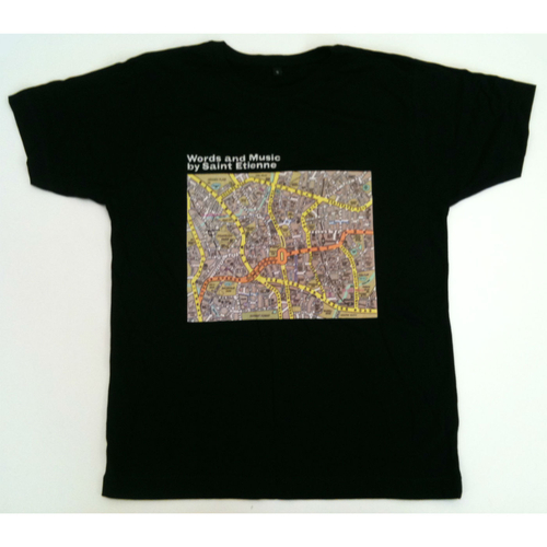 Saint Etienne - Words and Music Mens Black Tee