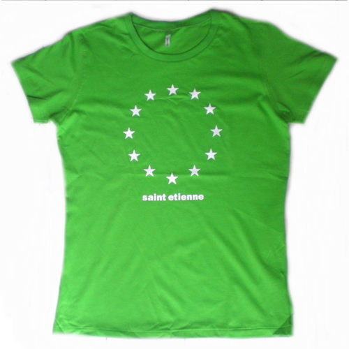 Saint Etienne - 'Kiss And Make Up' (green with white stars tee)