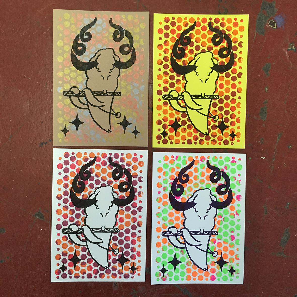 Gocco postcard 4 pack