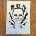 Keith Flint ink drawing