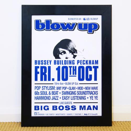 Blow Up - Blow Up Club Poster: Oct 2014 Big Boss Man Live