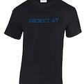 Object 47 T-shirt (Blue text)