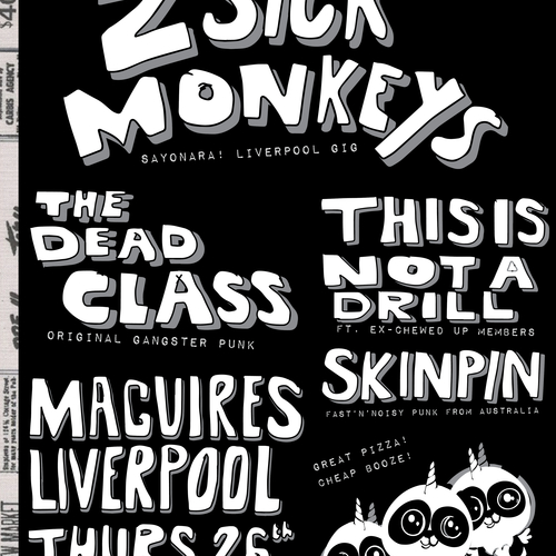 The Dead Class - 2 Sick Monkeys + The Dead Class + more @ Maguire's, Liverpool