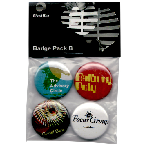 Belbury Poly, The Advisory Circle, The Focus Group - Ghost Box Badge Pack B