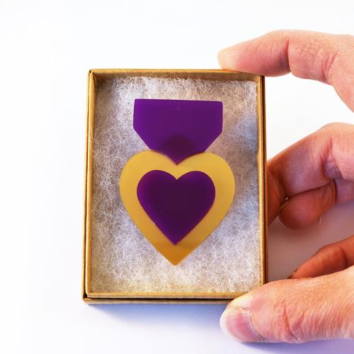 Piney Gir - Purple Heart Medal