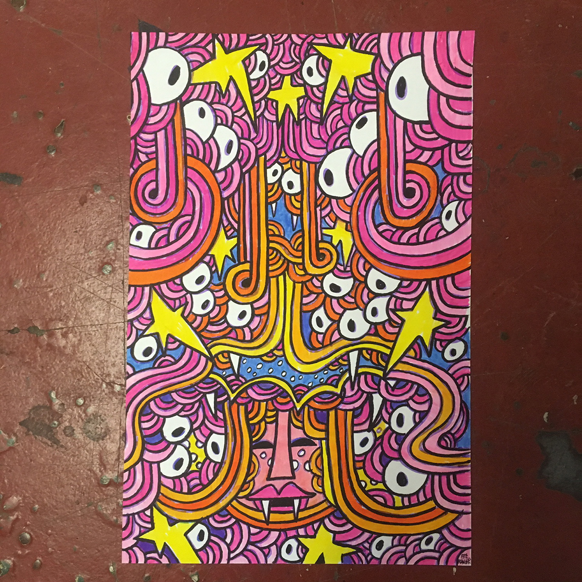 Pink Space drawing