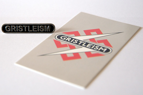 Throbbing Gristle - TG Gristleism Metal Pin Badge & Card of Gristleisms