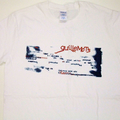 White Typewriter Print T-shirt
